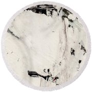 Abstract Original Painting Number Four Round Beach Towel