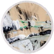 Abstract Original Painting Number Seven  Round Beach Towel