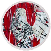 Abstract Original Painting Untitled Nine Round Beach Towel