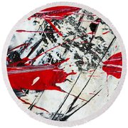 Abstract Original Painting Untitled Ten Round Beach Towel