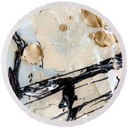 Abstract Original Painting Untitled Twelve Round Beach Towel