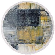 Abstract Painting No. 4 Round Beach Towel