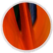 Abstract Paradise Round Beach Towel by Michael Cinnamond
