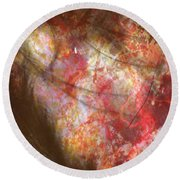 Abstract Pillow Round Beach Towel