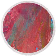 Abstract Red Rain Round Beach Towel