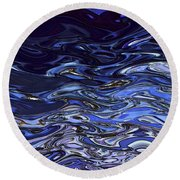 Abstract Reflections - Digital Art #2 Round Beach Towel