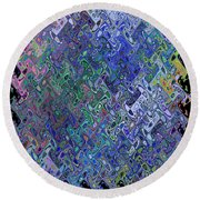 Abstract Reflections Round Beach Towel