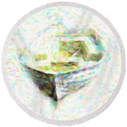 Abstract Rowboat Round Beach Towel