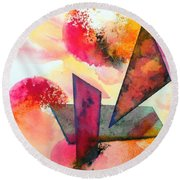 Abstract Shapes Round Beach Towel