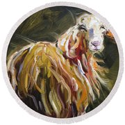 Abstract Sheep Round Beach Towel