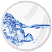 Abstract Soar Water  Round Beach Towel