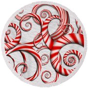 Abstract - Spirals - Peppermint Dreams Round Beach Towel