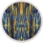 Abstract Symmetry I Round Beach Towel by David Gordon