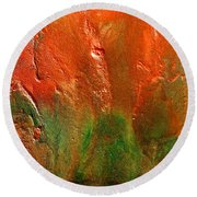 Abstract Vintage Landscape  Round Beach Towel