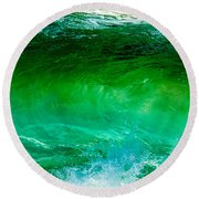 Abstract Wave 3 Round Beach Towel