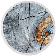 Abstract Woodgrain Upclose 6 Round Beach Towel