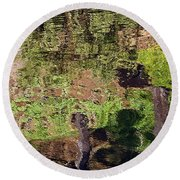 Round Beach Towel featuring the photograph Abstracted Reflection by Kate Brown
