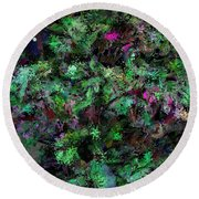 Round Beach Towel featuring the digital art Abstraction 121514 by David Lane