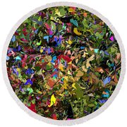 Abstraction 2 0211315 Round Beach Towel by David Lane