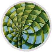 Round Beach Towel featuring the photograph Abstraction A La M. C. Escher by Gary Holmes