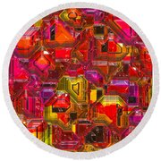 Abstractions... Round Beach Towel by Tim Fillingim