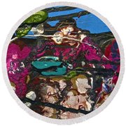 Abstracts 14 - Seascapes Round Beach Towel