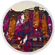Abstracts 14 - The Deep Dark Woods Round Beach Towel