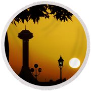 Round Beach Towel featuring the photograph Abu Dhabi by Andrea Anderegg