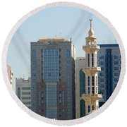 Abu Dhabi City Center Round Beach Towel
