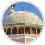 Abu Dhabi Mosque Round Beach Towel