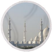 Abu Dhabi Sheikh Zayed Grand Mosque Round Beach Towel