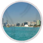 Abu Dhabi Skyline Round Beach Towel