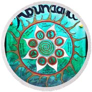 Abundance Money Magnet - Healing Art Round Beach Towel by Absinthe Art By Michelle LeAnn Scott