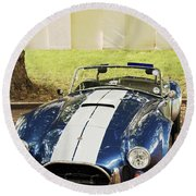 Round Beach Towel featuring the photograph Ac Cobra by Maj Seda
