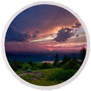Acadia Sunset 47150 Round Beach Towel