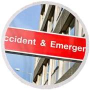 Accident And Emergency Round Beach Towel