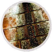 Acid Rain Round Beach Towel by Christiane Hellner-OBrien