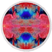 Acidic River Round Beach Towel