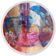 Acoustic Cafe Round Beach Towel