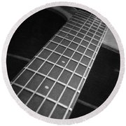 Acoustic Guitar Round Beach Towel by Andrea Anderegg