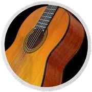 Acoustic Guitar Round Beach Towel