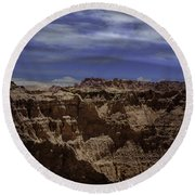 Across The Badlands Round Beach Towel