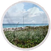 Across The Dunes At Hobe Sound Round Beach Towel