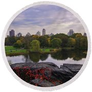 Across The Pond 2 - Central Park - Nyc Round Beach Towel