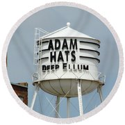Round Beach Towel featuring the photograph Adam Hats In Deep Ellum by Charlie and Norma Brock