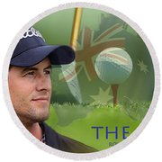 Adam Scott Round Beach Towel