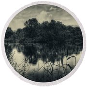 Adda River 3 Round Beach Towel