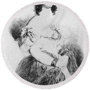 Adele Foucher Hugo (1804-1868) Round Beach Towel