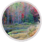Adirondack Fall Round Beach Towel