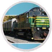 Adirondack Railroad Round Beach Towel